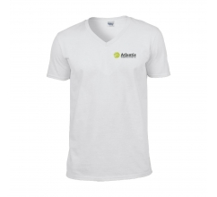 Gildan Softstyle V-Neck T-shirt heren bedrukken